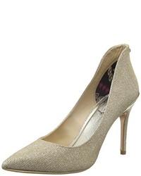 Zapatos de Tacón Dorados de Ted Baker