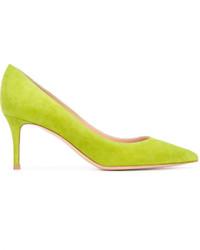 Zapatos de tacón en amarillo verdoso de Gianvito Rossi