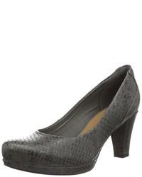 Zapatos de tacón en gris oscuro de Clarks