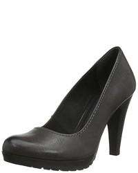 Zapatos de tacón en gris oscuro de Marco Tozzi