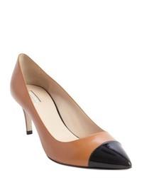 Zapatos de tacón en negro y marrón claro