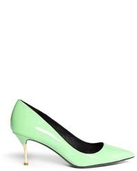 Zapatos de tacón en verde menta