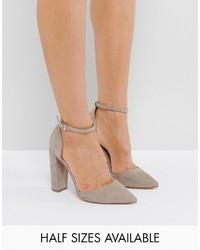 Zapatos de tacón grises de Asos
