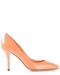 Zapatos de tacón naranjas