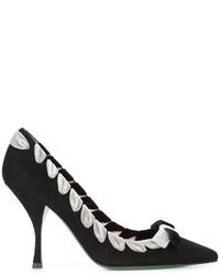 Zapatos de Tacón Negros de Fendi