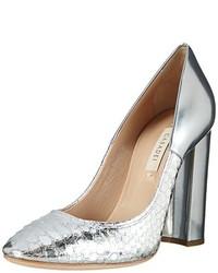 Zapatos de tacón plateados de Casadei