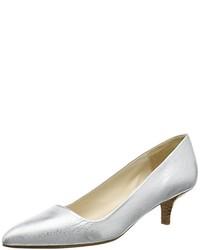 Zapatos de tacón plateados de Paco Gil