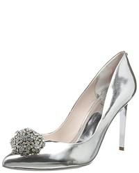Zapatos de tacón plateados de Ted Baker