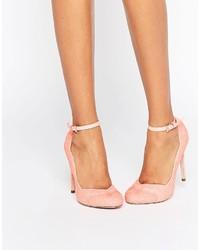 Zapatos de tacón rosados de Asos
