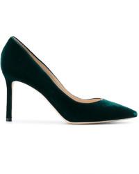 Zapatos de Tacón Verde Oscuro de Jimmy Choo