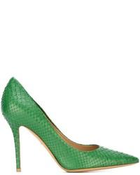 Zapatos de tacón verdes de Salvatore Ferragamo