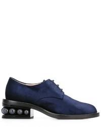 Zapatos derby azul marino de Nicholas Kirkwood
