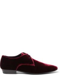 Zapatos derby burdeos de Saint Laurent