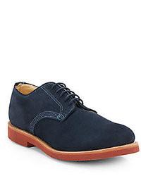 Zapatos derby de ante azul marino