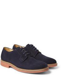 Zapatos derby de ante azul marino de A.P.C.