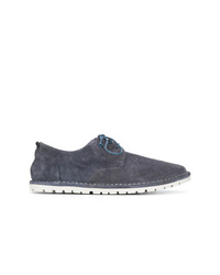 Zapatos derby de ante azul marino de Marsèll