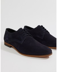 Zapatos derby de ante azul marino de Pier One
