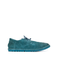 Zapatos derby de ante azules de Marsèll