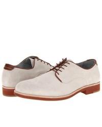 Zapatos derby de ante blancos