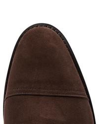Zapatos derby de ante en marrón oscuro de John Lobb