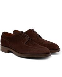 Zapatos derby de ante en marrón oscuro de Edward Green