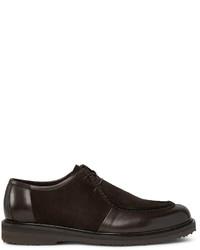 Zapatos derby de ante en marrón oscuro de Ermenegildo Zegna