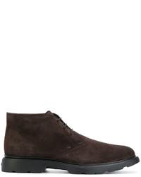 Zapatos derby de ante en marrón oscuro de Hogan