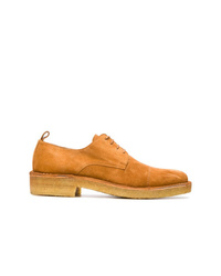 Zapatos derby de ante en tabaco de AMI Alexandre Mattiussi