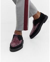 Zapatos derby de ante estampados negros de House of Hounds
