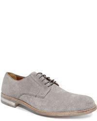 Zapatos derby de ante grises