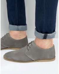 Zapatos derby de ante grises de Asos