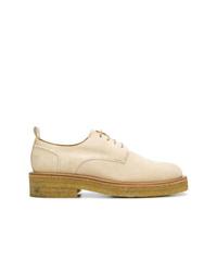 Zapatos derby de ante gruesos marrón claro de AMI Alexandre Mattiussi