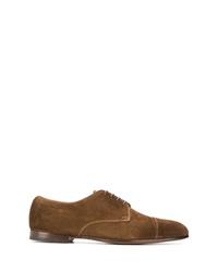 Zapatos derby de ante marrónes de Doucal's