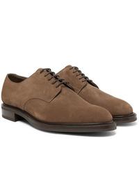 Zapatos derby de ante marrónes de Edward Green