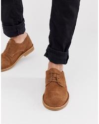 Zapatos derby de ante marrónes de Office