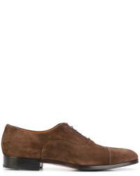 Zapatos derby de ante marrónes de Santoni