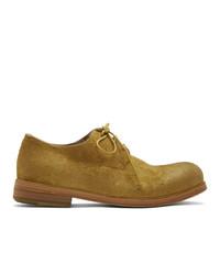 Zapatos derby de ante mostaza de Marsèll