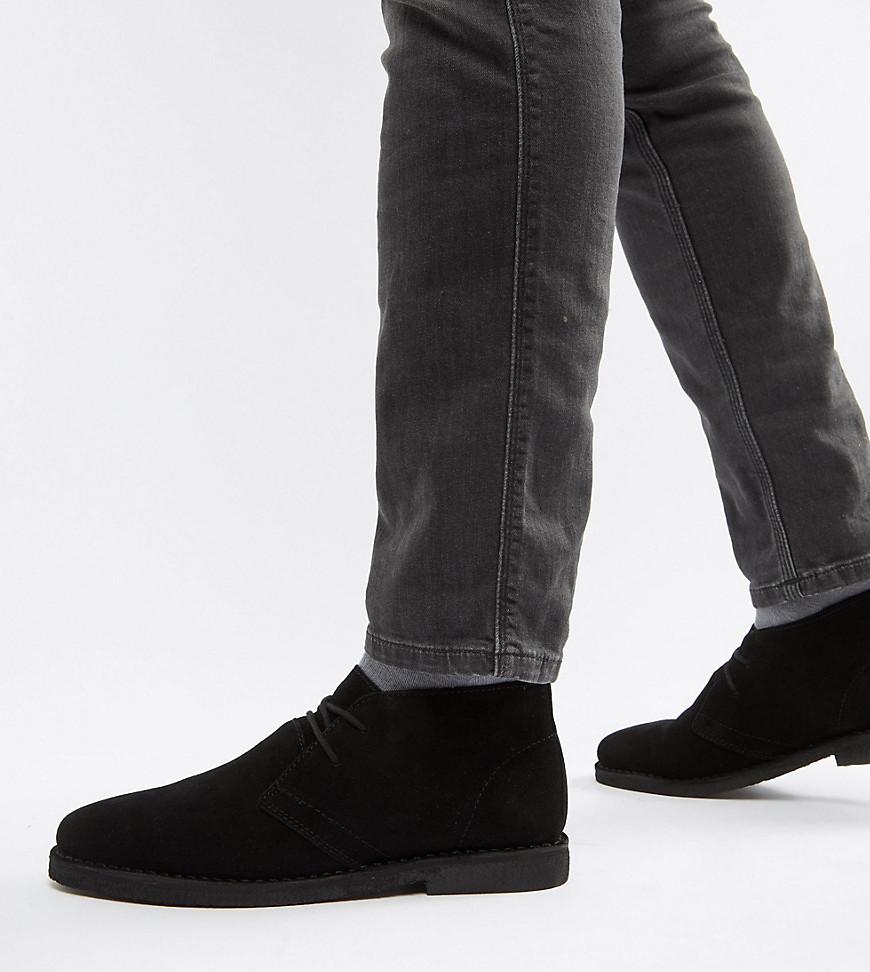 Zapatos derby de ante negros de ASOS DESIGN