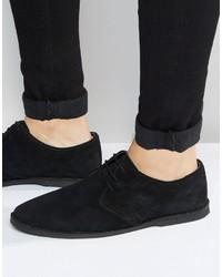 Zapatos derby de ante negros de Asos