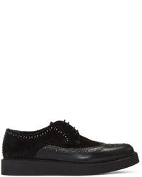 Zapatos derby de ante negros de Diesel