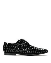 Zapatos derby de ante negros de Dolce & Gabbana