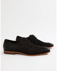 Zapatos derby de ante negros de Pier One