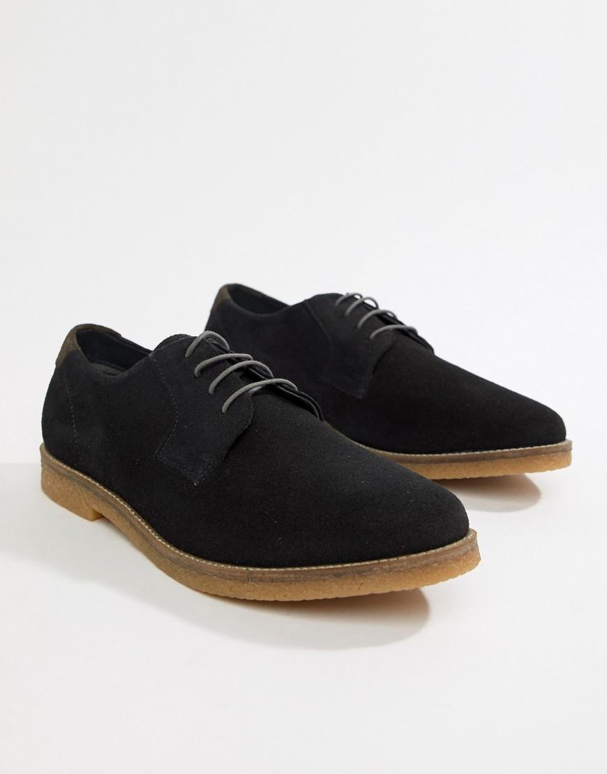 Zapatos derby de ante negros de Silver Street