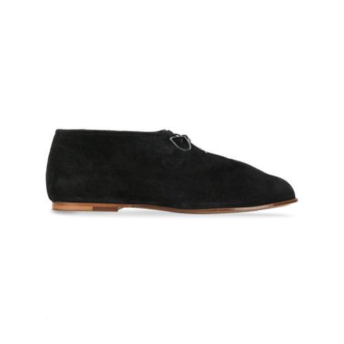 Zapatos derby de ante negros de Soloviere