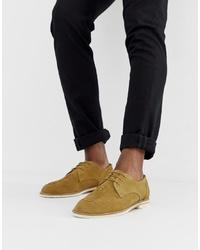 Zapatos derby de ante tejidos marrónes de H By Hudson