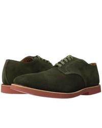 Zapatos derby de ante verde oscuro