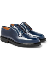 Zapatos derby de cuero azul marino