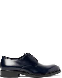 Zapatos derby de cuero azul marino de Jil Sander