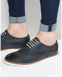 Zapatos Derby de Cuero Azules de Asos