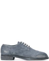 Zapatos Derby de Cuero Azules de Guidi